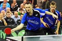 Duo hradeckých stolních tenistů Lubomír Pištej - Peter Šereda.