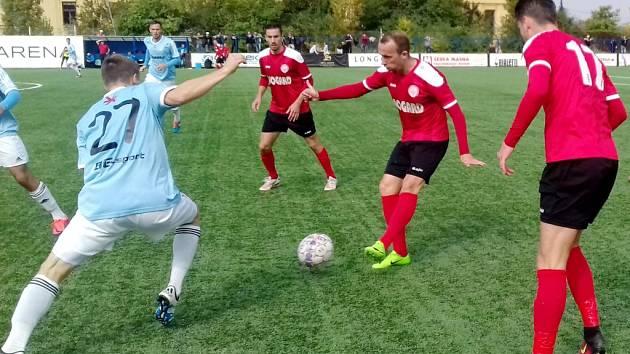 Česká fotbalová liga: FK Slavoj Vyšehrad - MFK Chrudim.