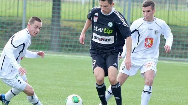 Juniorská liga ve fotbale: Příbram - Hradec Králové.