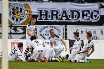 Fotbalová národní liga: FC Hradec Králové - FK Baník Sokolov.