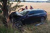 Havárie osobního vozidla v katastru části Lípa.