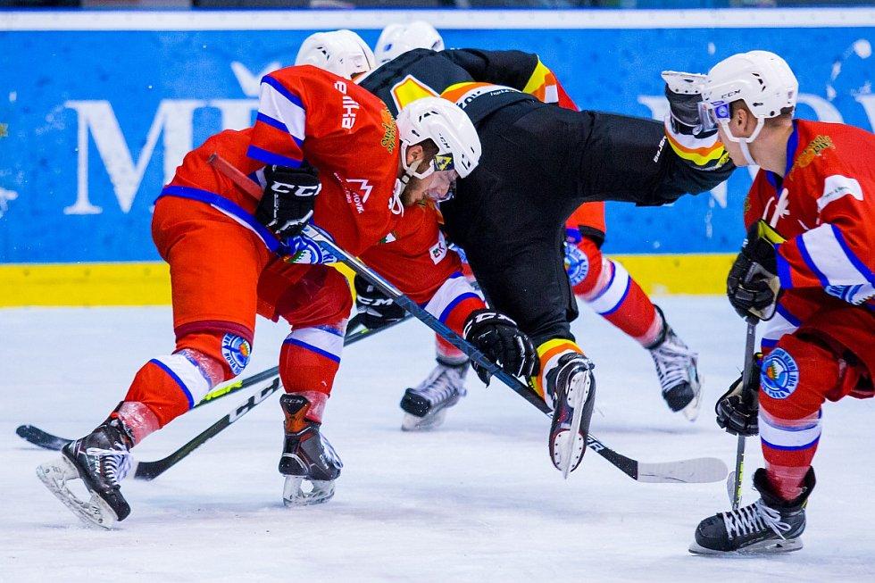 Finále krajské hokejové ligy: Nová Paka - Nový Bydžov.