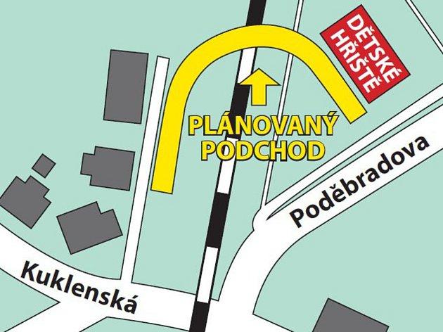 Takto si SŽDC a Sudop představuje bezpečný podchod pod připravovaným zvoukolejněním tratě Hradec Králové - Pardubice.