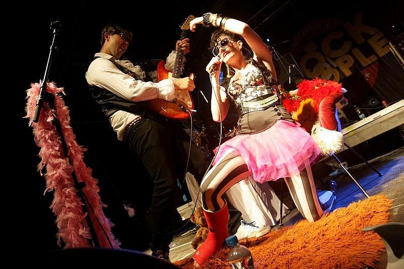 Rock for People. Neděle 4. července. Na snímku skupuina Toxique.