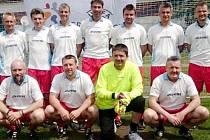 Tým fotbalových veteránů FC Nový Hradec Králové.