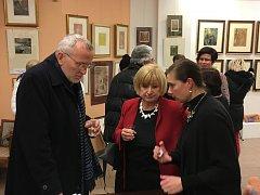 Zahájení výstavy Josefa Váchala v hradecké galerii Koruna