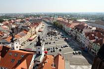 Pohled na Velké náměstí v Hradci Králové.