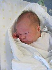 JÁCHYM KOPAL poprvé vykoukl na svět 12. listopadu v 11.22 hodin. Po narození měřil 53 cm a vážil 3960 g. Největší radost udělal svým rodičům Miriam Sklenářové a Stanislavu Kopalovi.