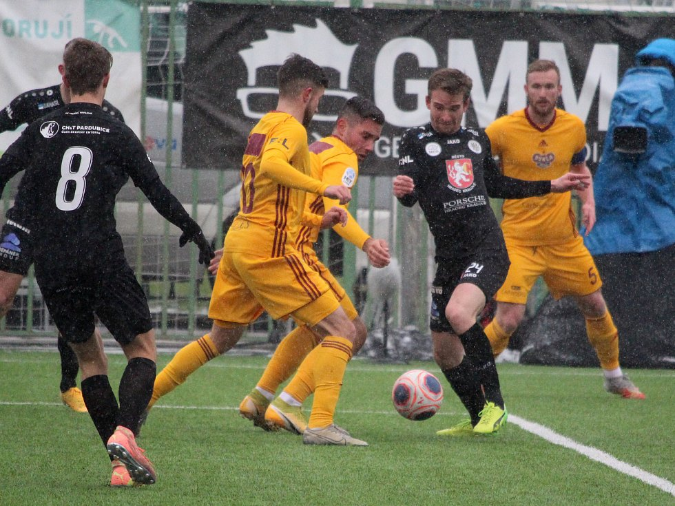 Zimní fotbalová Tipsport liga: FK Dukla Praha - FC Hradec Králové.