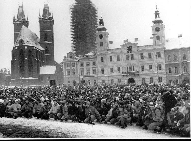Listopad 1989 v Hradci Králové.