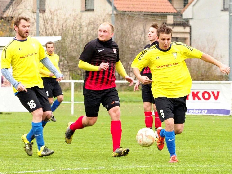 Okresní přebor ve fotbale: Lhota pod Libčany - Myštěves.