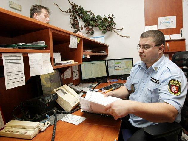 Operační středisko Městské policie Hradec Králové.