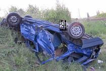Nehoda vozidla a vlaku Černožice