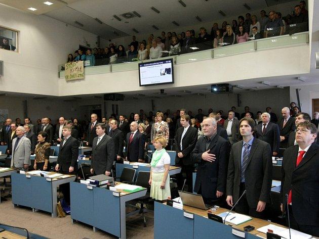Ustavující zasedání zastupitelstva Královéhradeckého kraje.