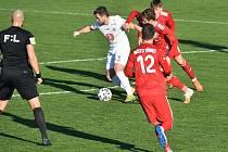 Fotbalová FORTUNA:NÁRODNÍ LIGA: FK Fotbal Třinec - FC Hradec Králové.