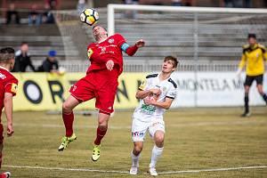 Fotbalová národní liga, duel FC Votroci Hradec Králové - Třinec.