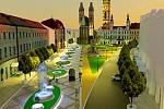 Vize hradeckého Velkého náměstí.