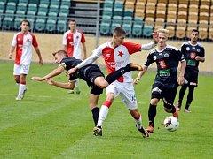 Juniorská liga ve fotbale: SK Slavia Praha - FC Hradec Králové.