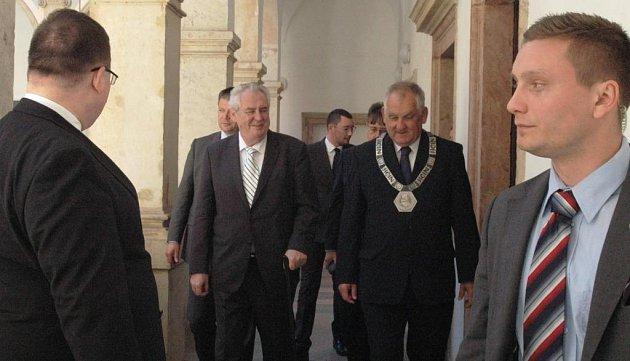 Miloš Zeman vJičíně