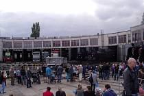 Národní den železnice na nádraží v Hradci Králové.
