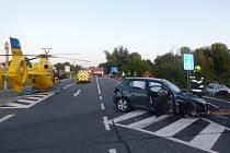 Nehoda tří aut si vyžádala celkem čtyři zraněné.