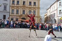 Královna Eliška navštívila Hradec, chystá se ohňostroj
