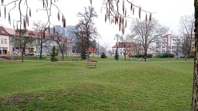 Sukovy sady v Hradci Králové.