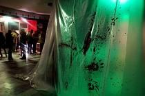 Výzdoba k promítání Vetřelce v královéhradeckém kině Bio Central.