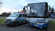 Havárie autobusu v Novém Městě nad Cidlinou.