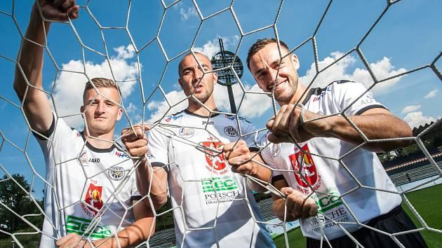 Focení fotbalistů FC Hradec Králové před startem nové sezony.