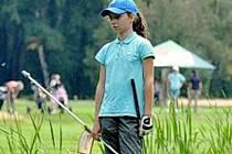 Golfistka GC Hradec Králové Lucie Harcubová.