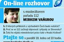 On-line rozhovor s Mirkem Vaňurou, moderátorem pořadu 112.