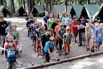 Tábor dětí z mysliveckých rodin na Šanovci.