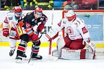 2. semifinále hokeje Hradec Králové - Třinec (1:2).