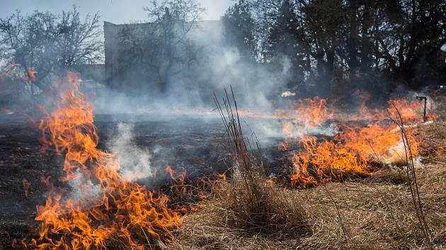 S rostoucími teplotami se na jaře množí případy vypalování trávy. Její plošné pálení je však zákonem zakázané. Lidé by tak neměli vypalovat suchou trávu. I kvůli silnému větru může pak jednoduše dojít k dalšímu rychlému šíření požáru.
