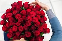 Kytice ke svátku sv. Valentýna.