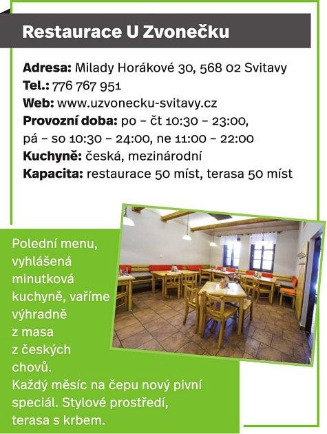 Restaurace UZvonečku, Svitavy