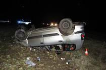 Nehoda poblíž Vysoké nad Labem.