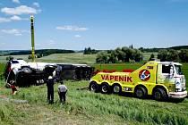 Havárie cisterny s pohonnými hmotami v Čistěvsi.