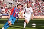 Kapitáni Pavel Horváth a Milan Fukal při zápase Gambrinus ligy Plzeň - Hradec Králové.