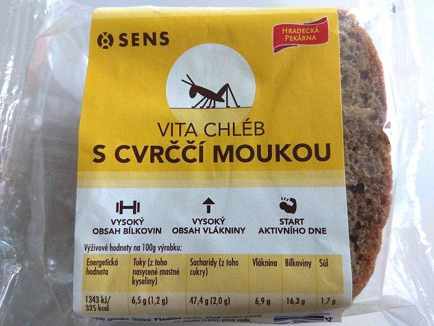Hradecká pekárna nabízí chleba s cvrččí moukou