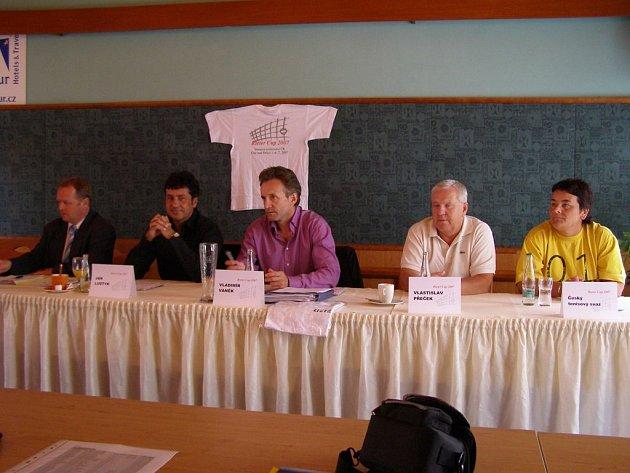 Tisková konference před Rieter Cupem