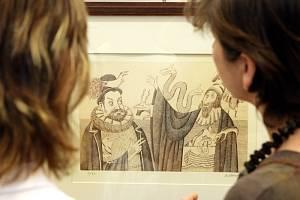 Výstava obrazů Adolfa Borna v galerii Koruna v Hradci Králové.