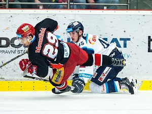 Generali play off hokejové Tipsport extraligy: Mountfield HK - Bílí Tygři Liberec.