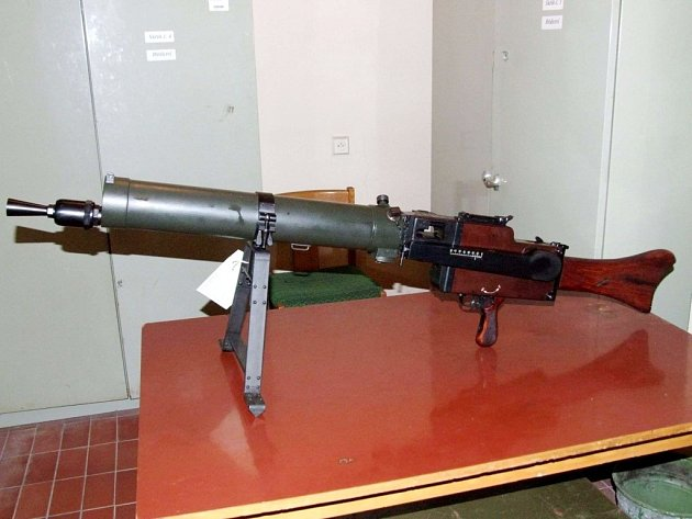 Kulomet z 1. světové války.