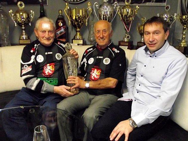 Zleva Zdeněk Pičman, Bedřich Šonka a Richard Jukl.