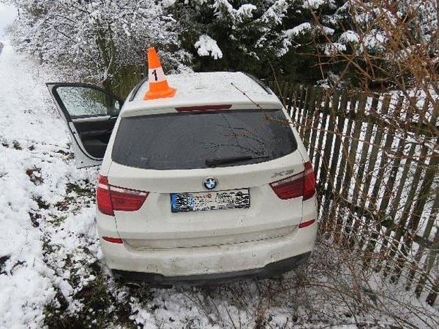Havárie osobního automobilu vBoru.