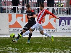 Fotbalová Fortuna národní liga: FK Viktoria Žižkov - FC Hradec Králové.