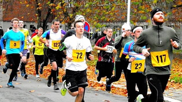 Běh městem Hradec Králové - hlavní závod.