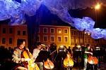XVI. mezinárodní festival Divadlo evropských regionů: světelná instalace (21. června 2010).